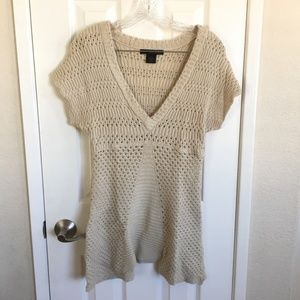 Calvin Klein Knitted V-neck Top Size M